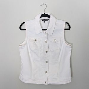 Baccini White Denim Vest
